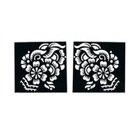 Self-adhesive henna stencil Square (6cmx6cm) For henna tattoos