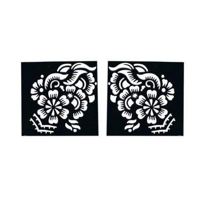 Self-adhesive henna stencil Square (6cmx6cm) For henna tattoos