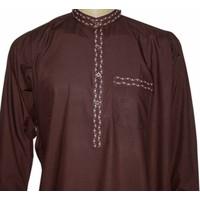 Salwar Kameez Men - Brown with embroidery