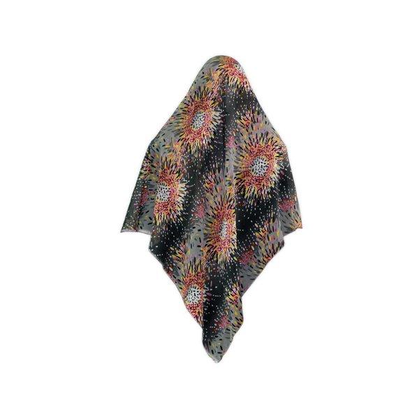 Großes Kopftuch - Hijab mit Blütenmuster