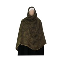 Großer Shayla Schal - Hijab in Olive