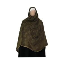 Olive green Shayla hijab scarf