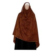 Großer Shayla Schal - Hijab in Rotbraun