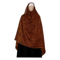 Red brown Shayla hijab scarf with pattern