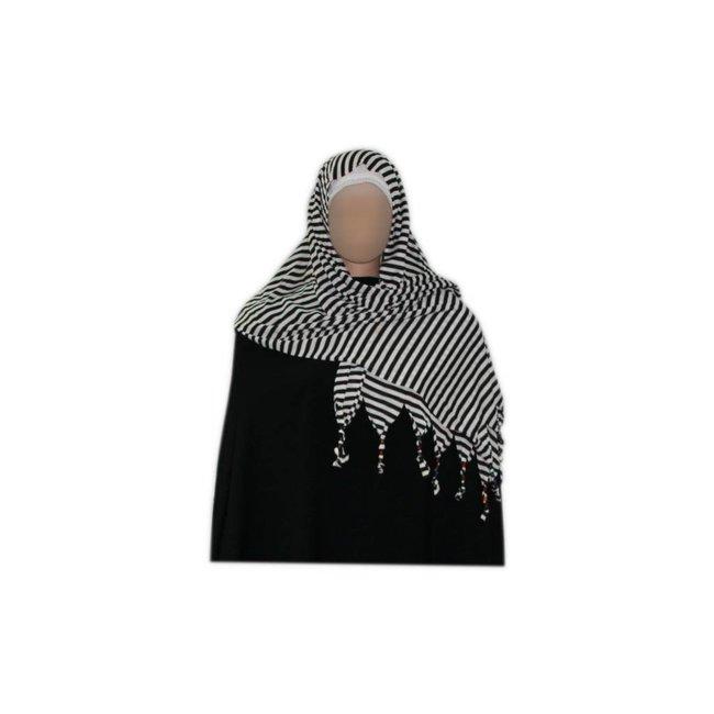Little Shayla Scarf Hijab Dark White