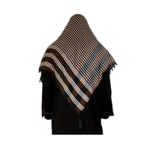 Large Scarf - Shimagh Brown-Black 120x115cm