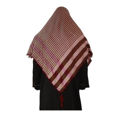 Large Scarf - Shimagh Shemagh in Red 120x115cm