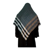 Large Scarf - Shimagh Shemagh in black 120x115cm