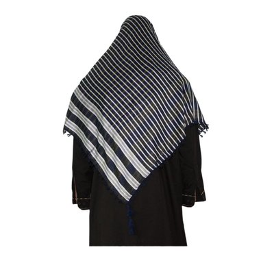 Large Scarf - Shimagh in Blue 120x115cm