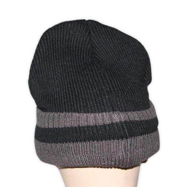 Kashmiri Mütze Warm - Doppellagig gestrickte Wintermütze Gr. L/XL