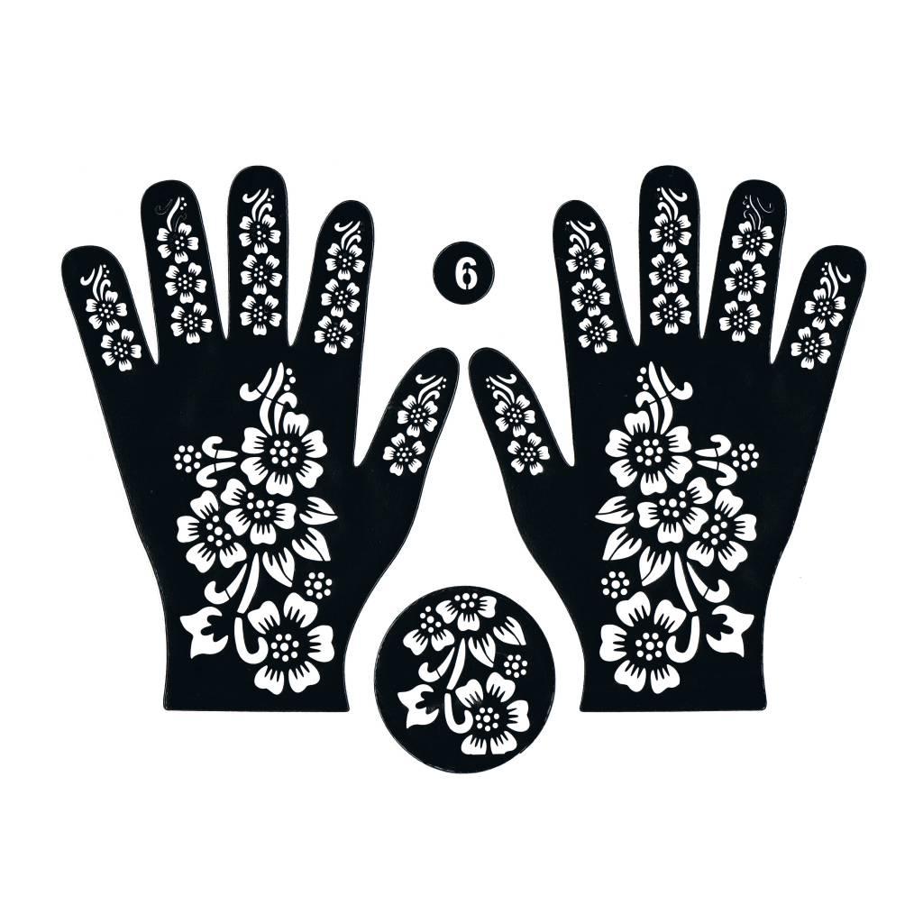 Henna Stencil Tattoo Self-adhesive Hand 61 - Oriental-Style