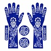 Self-adhesive Henna Stencil - Hand 6-piece set