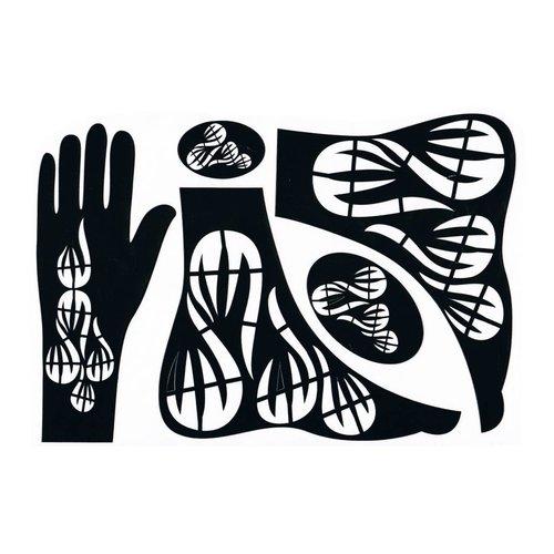 Henna Hand Stencil 5-piece set