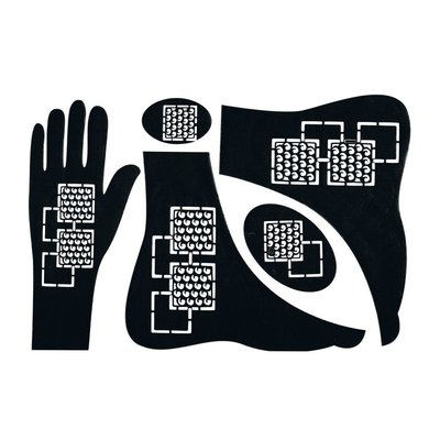 Self-adhesive Henna Stencil - Hand 5-piece set