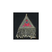 Tribal pendant with red moon
