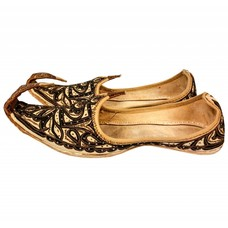 Men Khussa in Brown-Gold