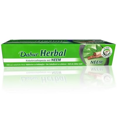 Dabur Ayurvedische Zahnpasta mit Neemextrakt - Vegan, Fluoridfrei (100ml)