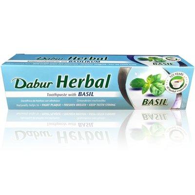 Dabur Ayurvedische Zahnpasta mit Basilikum - Vegan, Fluoridfrei (100ml)