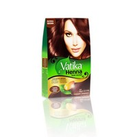 Vatika Dabur Henna Hair Colour - Natural brown with almond extract 60g