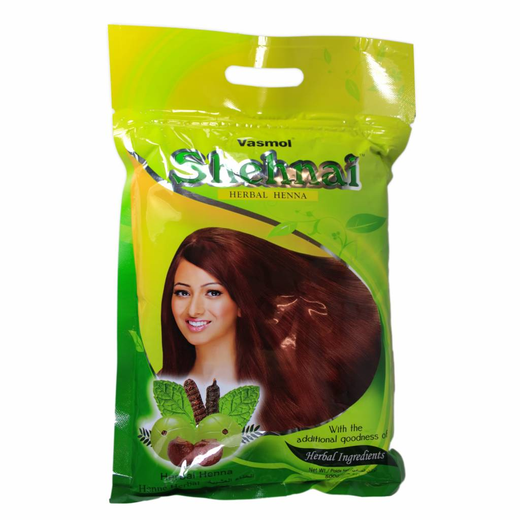 Herbal Hair Colour With Henna Vasmol Shenai 500g