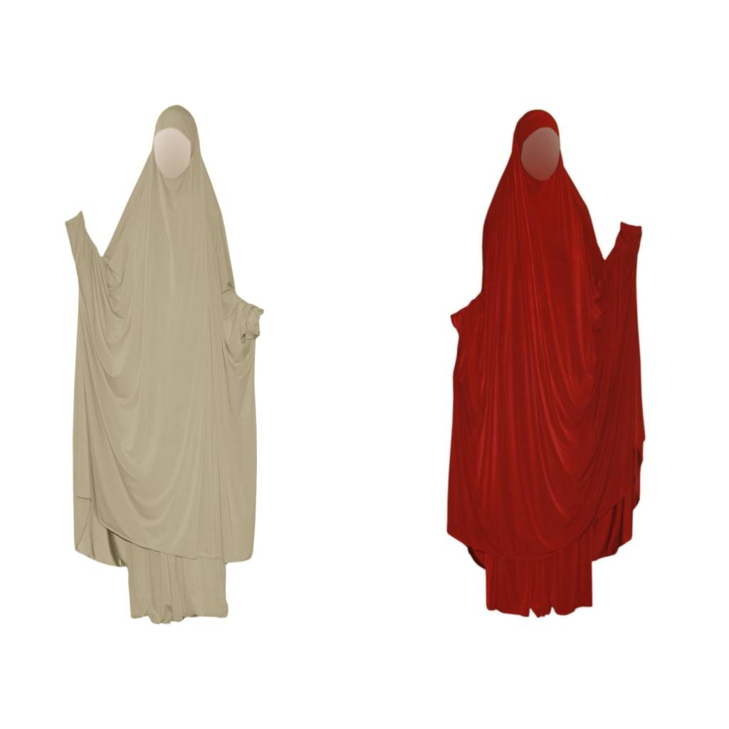 butterfly abaya in beige and red oriental style