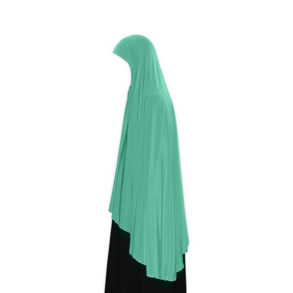 Big khimar hijab in Turquoise - Elastic head scarf