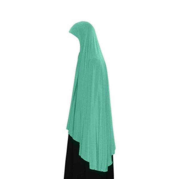 Großer Khimar Hijab in Türkis - Elastisches Kopftuch