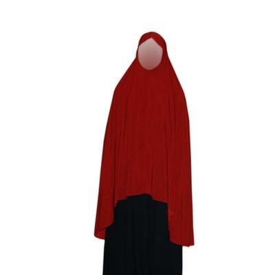 Big khimar hijab in Red - Elastic head scarf