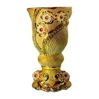 Mubkara - Large censer ceramics for Bakhour incense burning gold colour