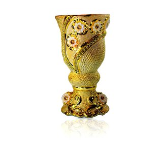 Mubkara - Large Incense Burner Ceramics in Gold Colour