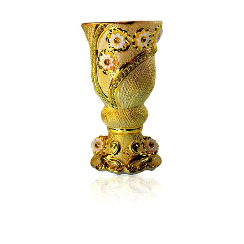 Mubkara - Large Incense Burner Ceramics in Gold Colour