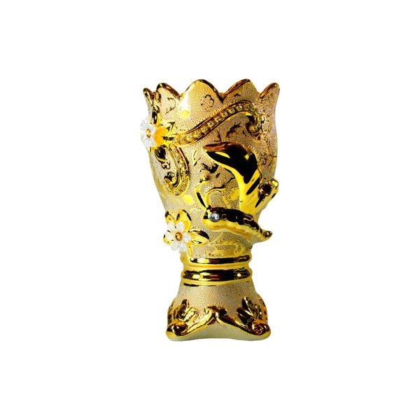 Mubkara - Räuchergefäß Keramik für Räuchern mit Bakhour Gold