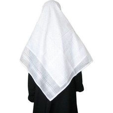 Large Scarf - Shemagh White 134x134cm