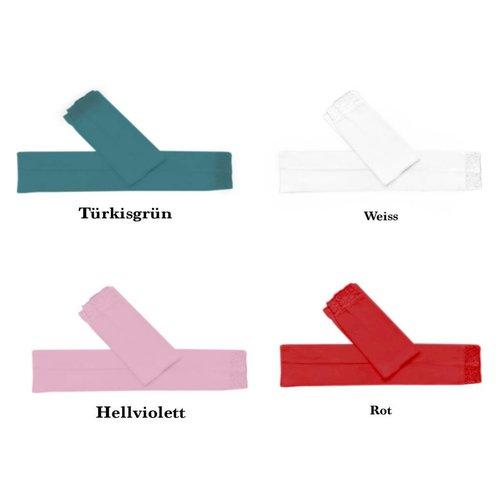 Armstulpe in verschiedene Farben mit Spitze