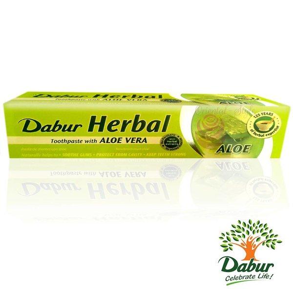 Dabur Ayurvedische Zahnpasta mit Aloe Vera - Vegan, Fluoridfrei (100ml)