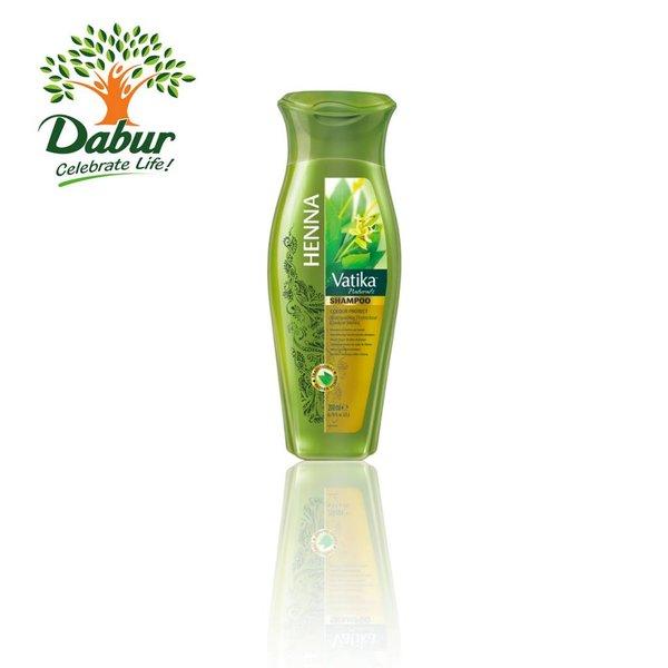 Vatika Dabur Henna Shampoo mit Henna für kolorierte, gestresste Haare (200ml)