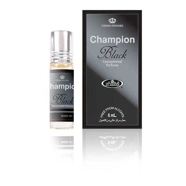 Al Rehab  Konzentriertes Parfümöl Champion Black Al Rehab - Parfüm ohne Alkohol
