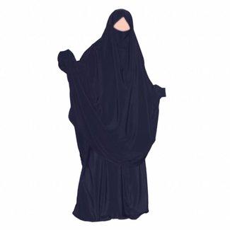 Khimar Set with pants Dark Blue