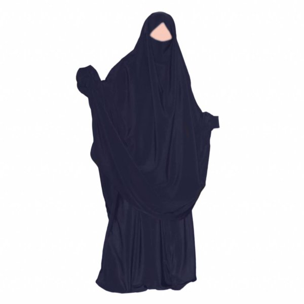 Khimar Set with baggy Sunna pants Dark Blue