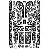 Self-adhesive henna stencils - Maxiset (28cm x 19cm)