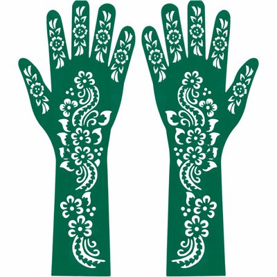 Self-adhesive Henna Stencil for tattoos - Hand And Arm