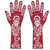 Selbstklebende Hennaschablone für Henna-Tattoos - Hand Arm