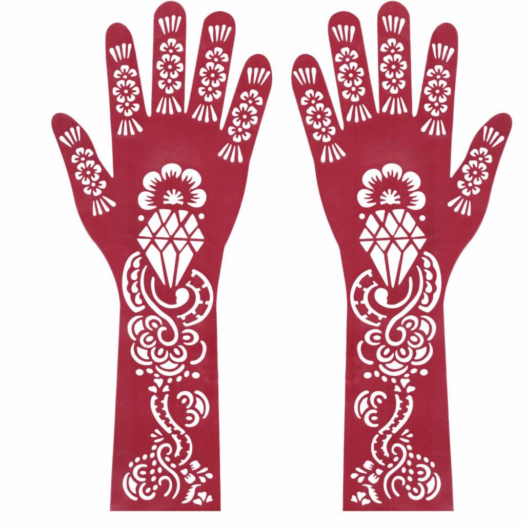 hennaschablone schablone henna mehndi tattoos hand arm. Black Bedroom Furniture Sets. Home Design Ideas