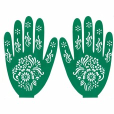 Henna Hand Stencil For Tatoos