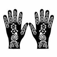 Self-adhesive Henna Stencil For Tattoos - Hand