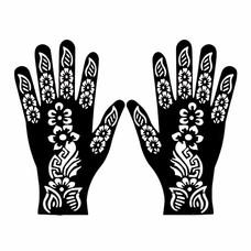 Henna Hand Stencil For Tatoos