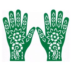 Henna Hand Stencil For Tattoos