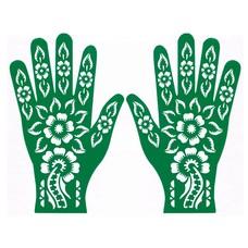 Henna Hand Stencil For Tattoos