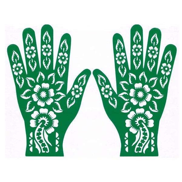 Selbstklebende Hennaschablone für Henna-Tattoos - Hand