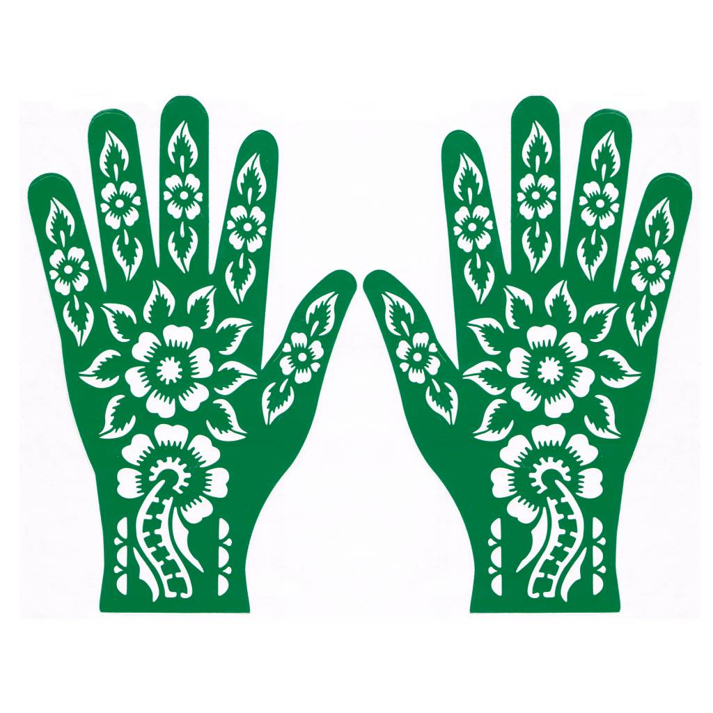 henna stencil for tattoos hand self adhesive rls165. Black Bedroom Furniture Sets. Home Design Ideas